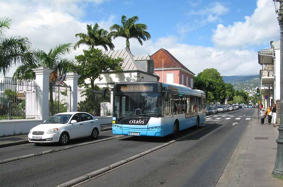 Bus van het openbaar vervoer in La Réunion