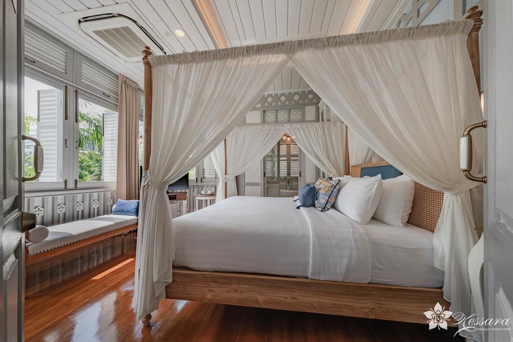 Interieur van de kamer in Kessara hotel Bangkok