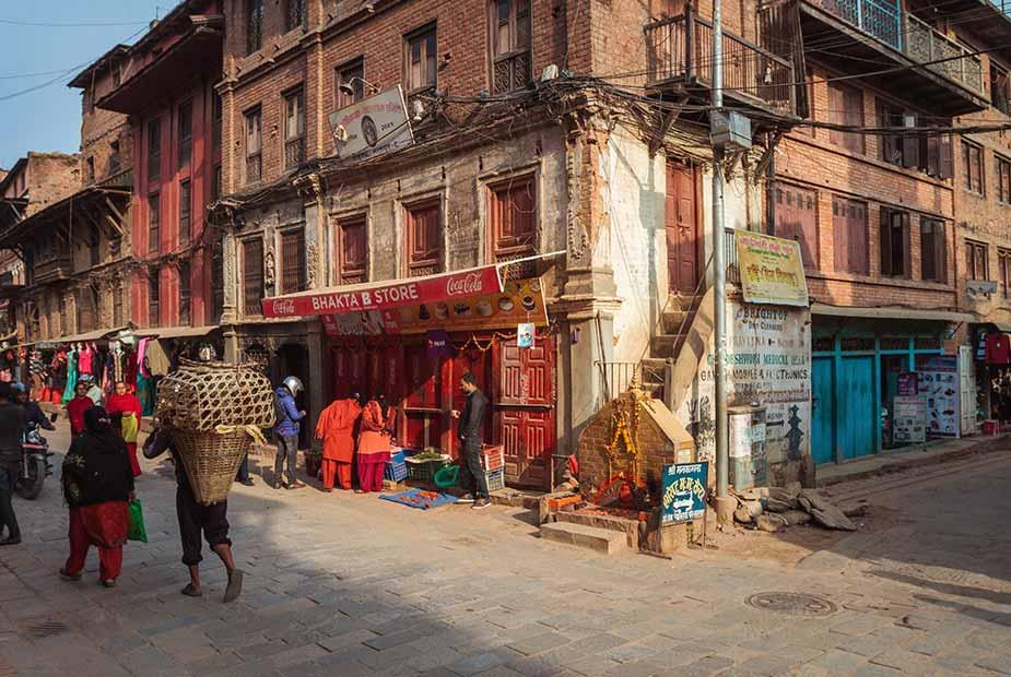 Straatbeeld in Bhaktapur