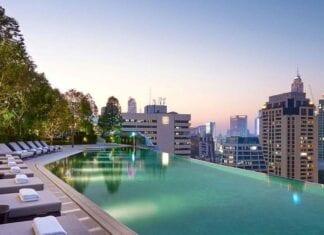 Zwembad van Hyatt Park Hotel in Bangkok