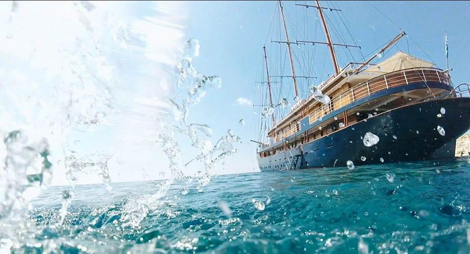 het water op in griekenland