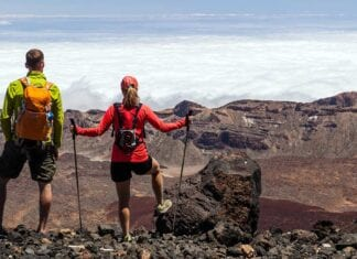 Boven op El Teide in Spanje
