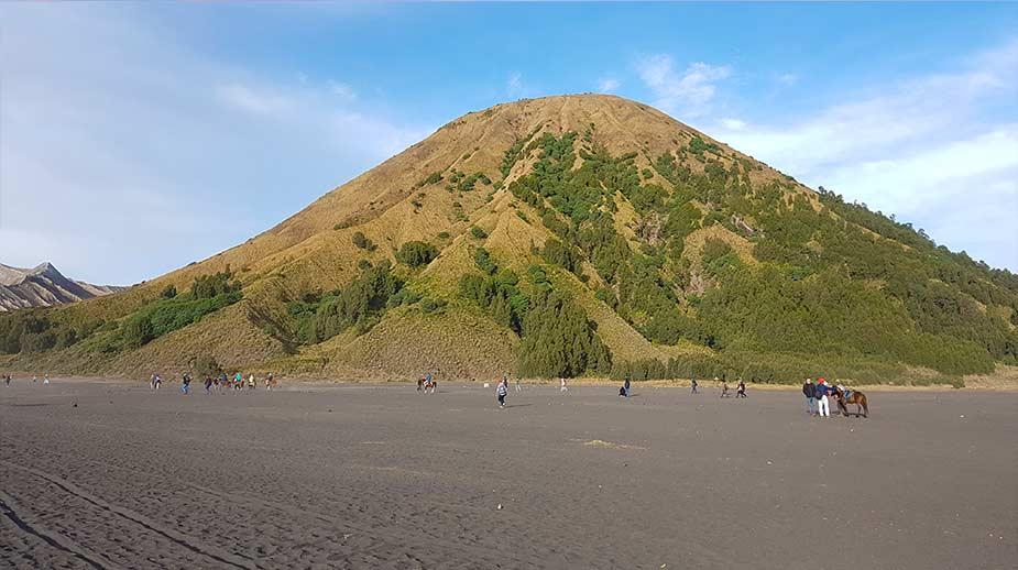 Het bijzondere landschap van de krater