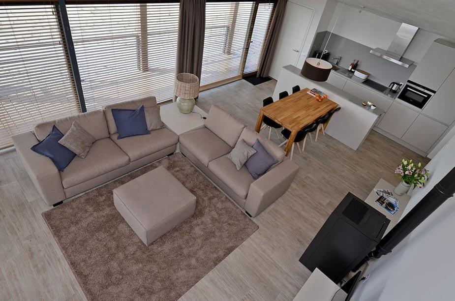 Woonkamer van een Villa Comfort bij Oasis Punt West