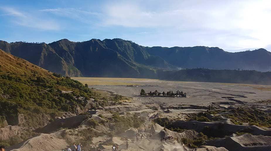 Uitzichten bij de krater bij Bromo