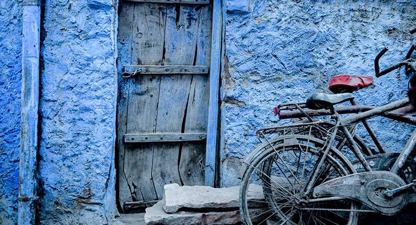 blauwe stad india