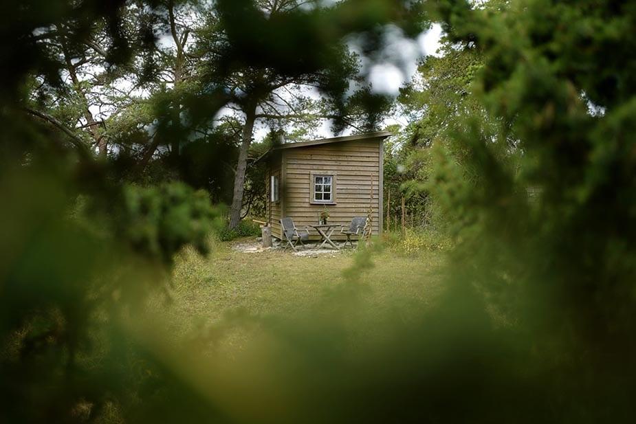 slapen in een hutje in zweden