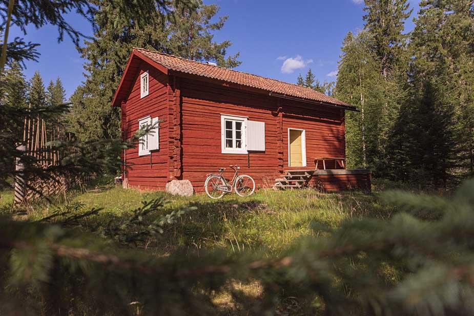 slapen in een 17e eeuwse hut in zweden