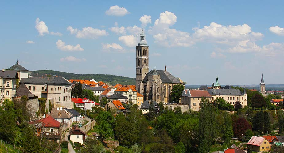 Kutná Hora in de omgeving van praag Tsjechië