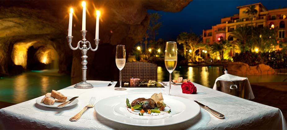 Romantisch dineren op Tenerife