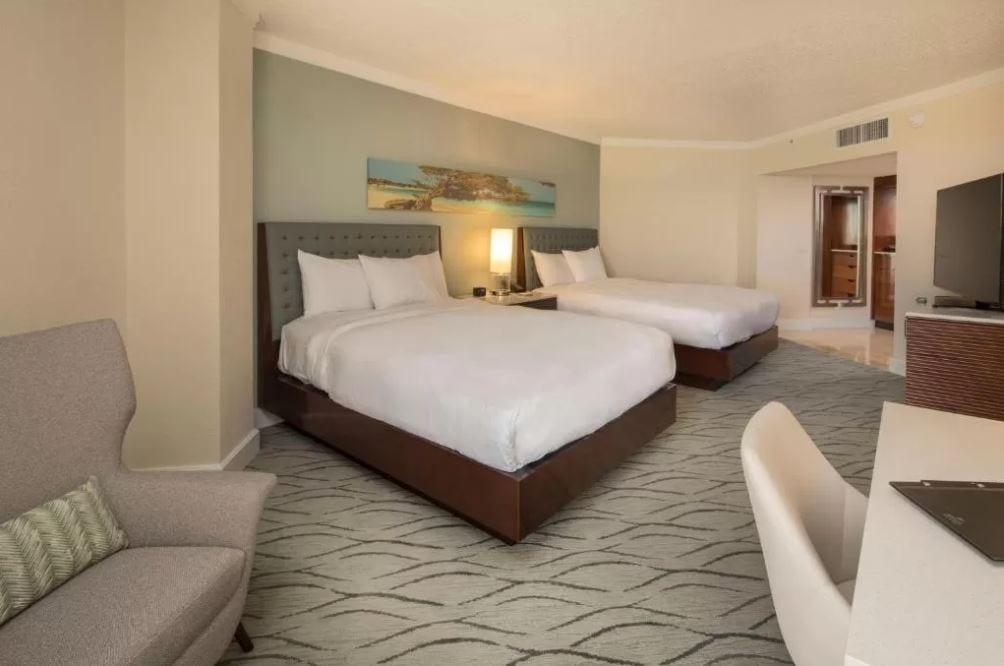 Interieur van een kamer in het Hilton Aruba