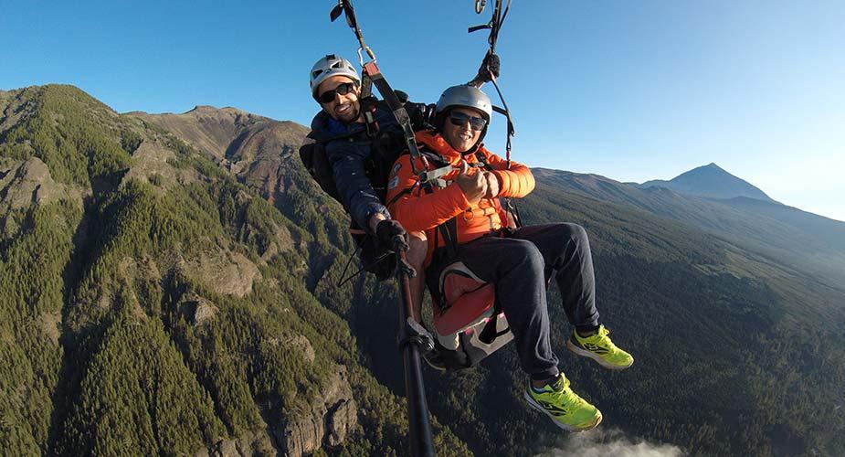 Paragliden op Tenerife