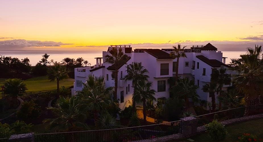Zonsondergang bij Las Terraza