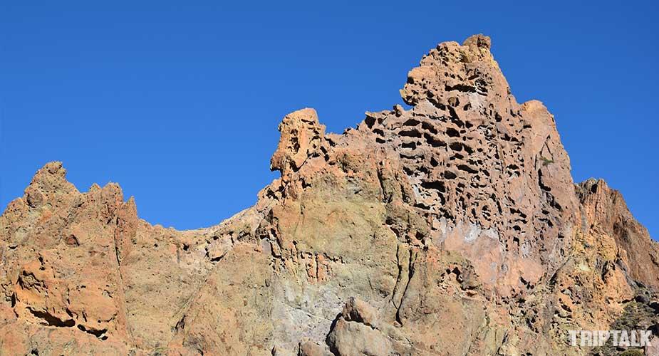 De kathedraal rots in het nationaal park el teide