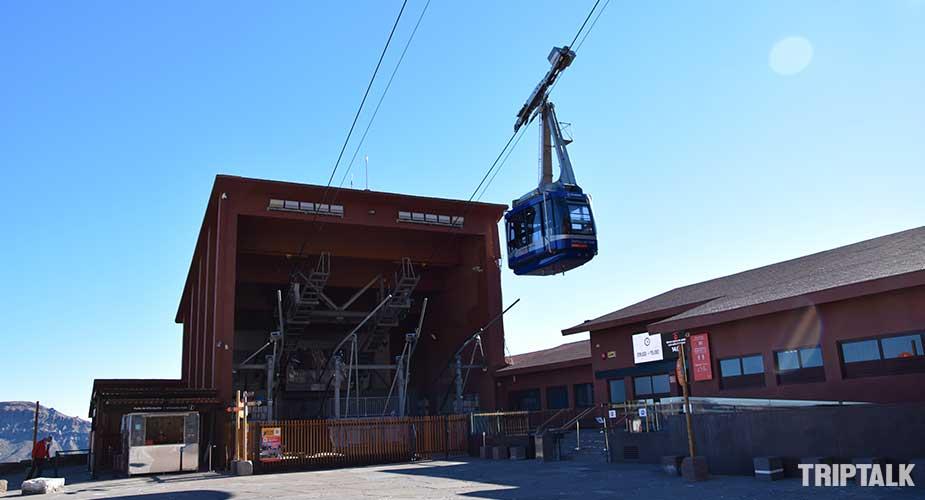 Basisstation van de kabelbaan bij El Teide