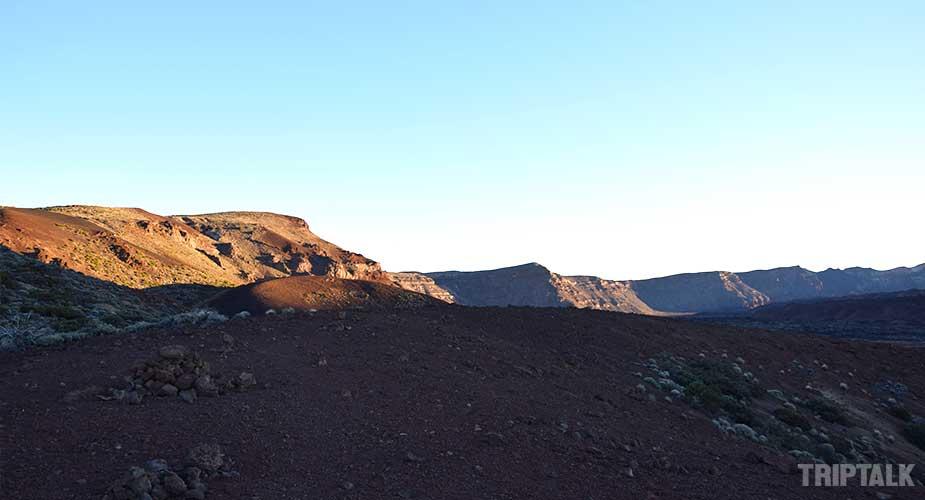 Het landschap van Las Canadas del Teide op Tenerife
