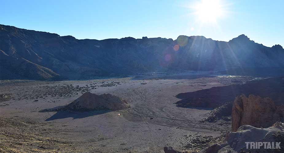 Het bijzondere maanlandschap op Teneriffe