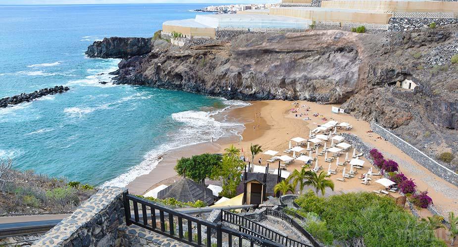 Het leuke strand bij Playa Abama