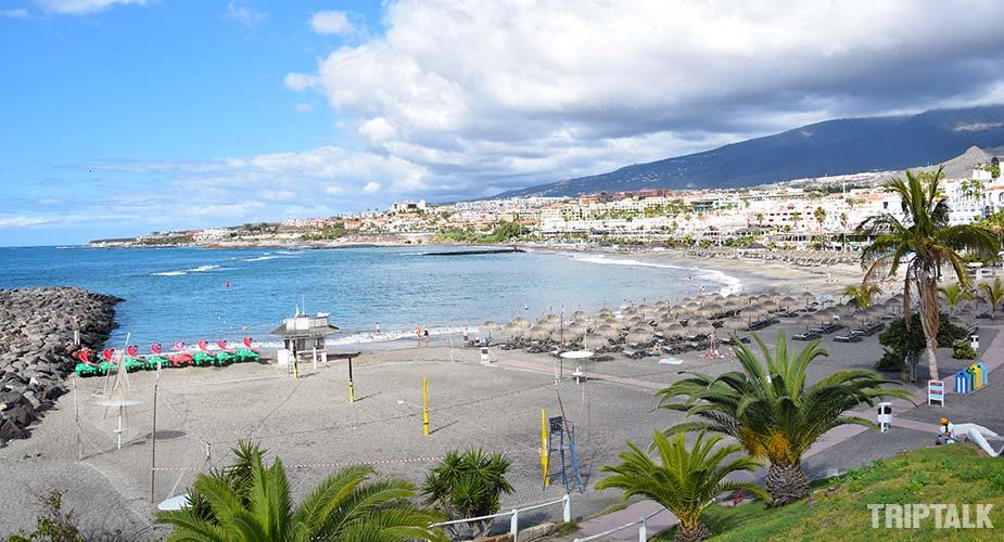Strand van Playa de Fanabe in Costa Adeje