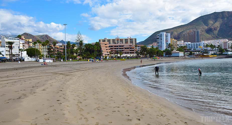 Het strand bij Los Cristianos