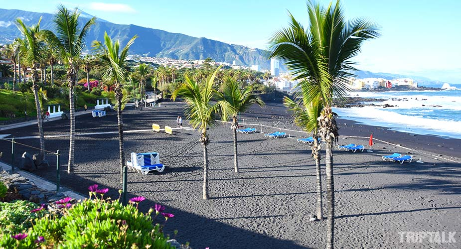 Het strand van Playa del Castillo in Puerto de la Cruz