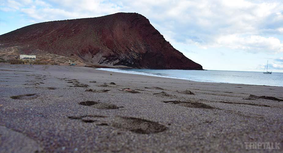 Strand bij La Tejita en El Medano