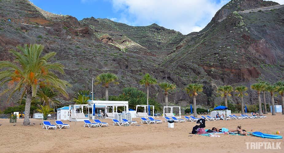 Strandbar op het strand van Las Teresitas