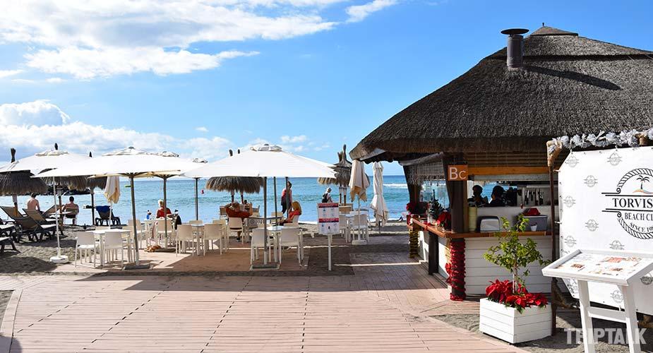 Beach restaurant Torviscas in Playa de Fanabe