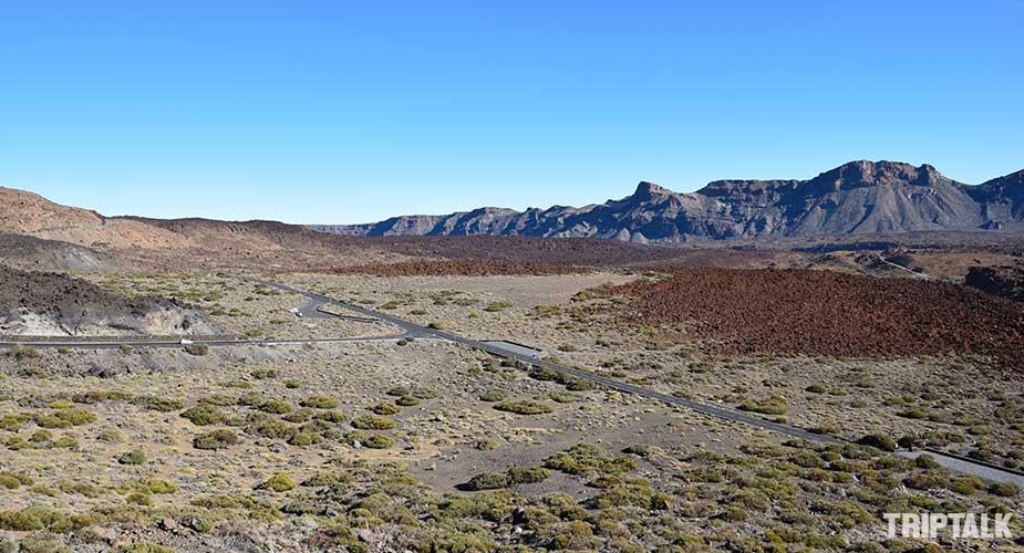 Uitzicht op de hoogvlakte van El Teide op Tenerife