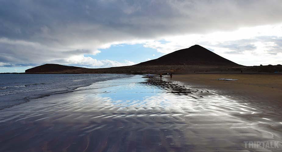 Andere kant van het strand van El Medano