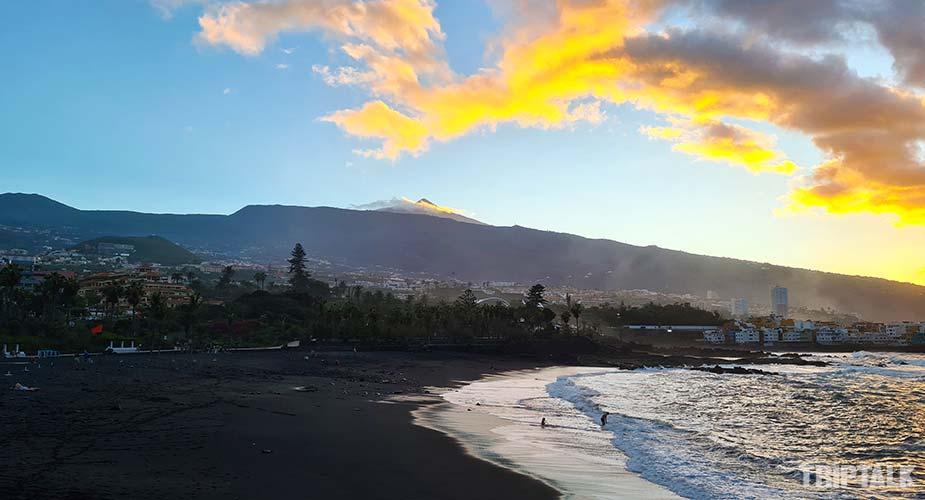 Zonsondergang bij Playa del Castillo