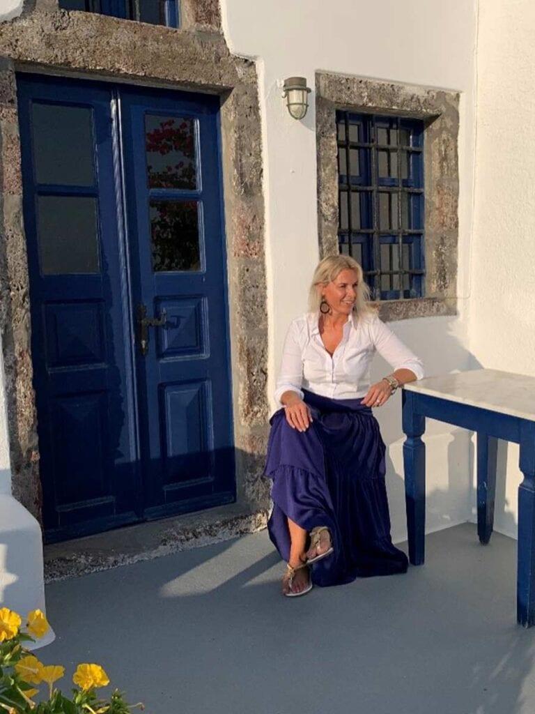 Angelique in bij huis in Griekenland