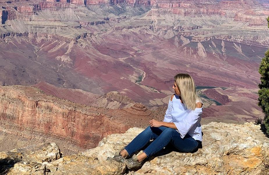 Angelique in de Grand Canyon
