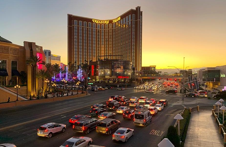 Las Vegas bij zonsondergang