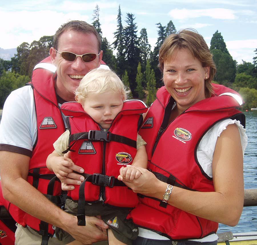 Pauline met gezin in Nieuw-Zeeland