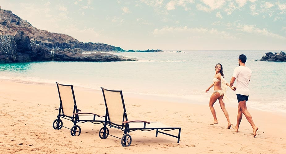 Het zandstrand van Playa Abama