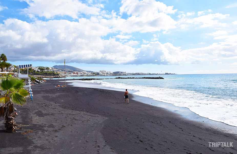 Het zwarte strand voor RIU Palace Tenerife
