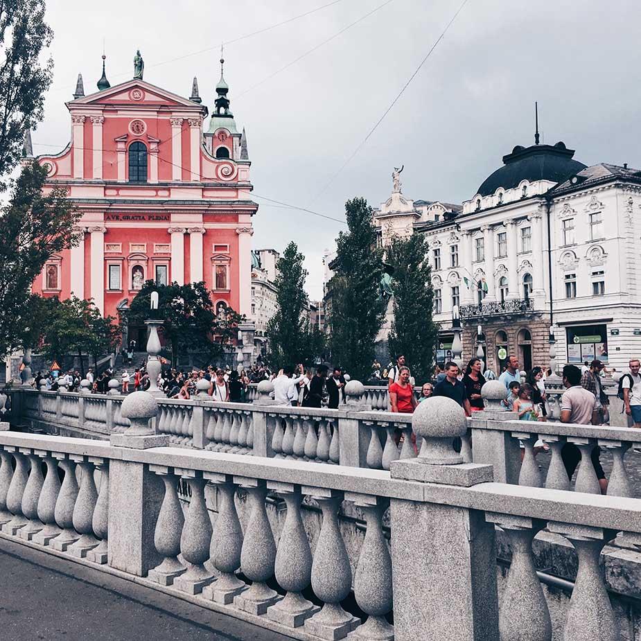 ljubljana centrum bezoeken tijdens interrail route door Oost-Europa
