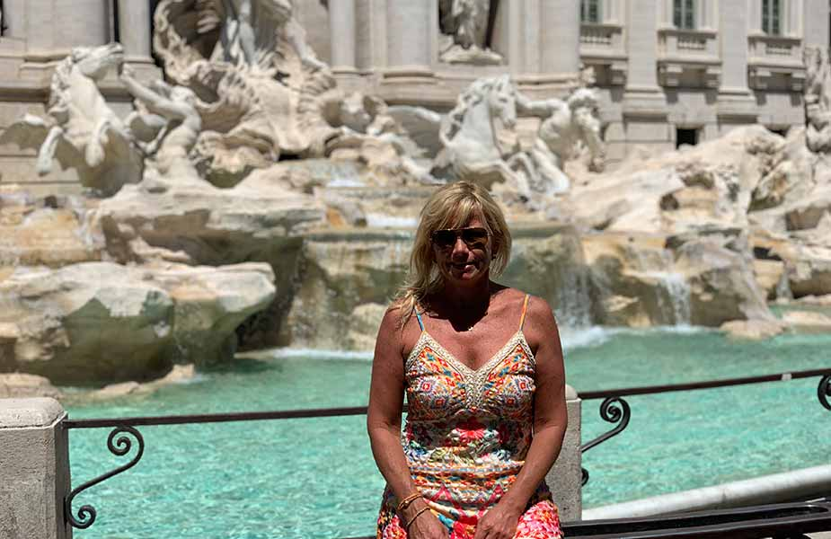Aletty op plein in Rome