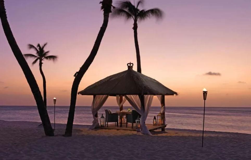 Romantisch diner Cabana Bucuti Aruba