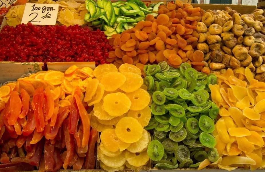 Gedroogd fruit in Venetie
