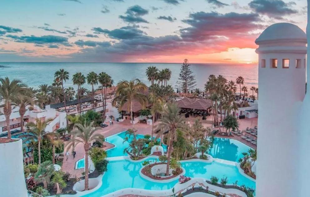 Tuin met zwembad Hotel Jardin Tropical Tenerife