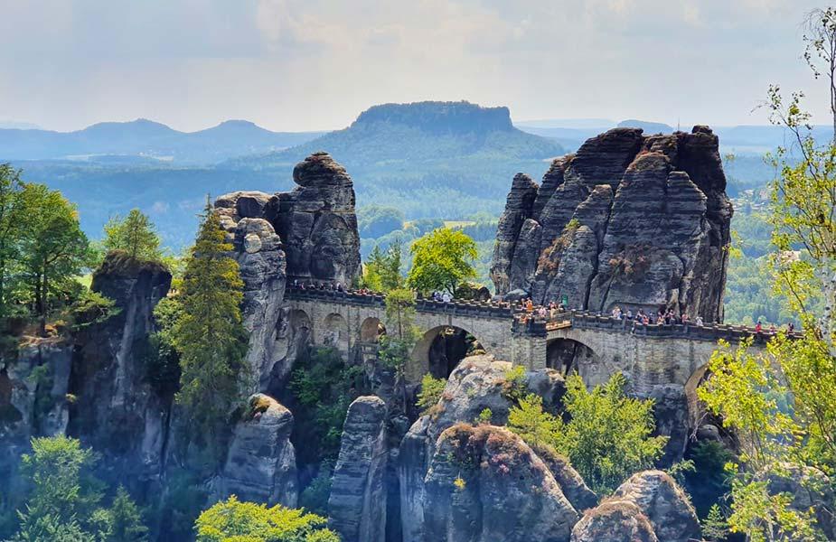 Uitzicht op de natuur in Duitsland