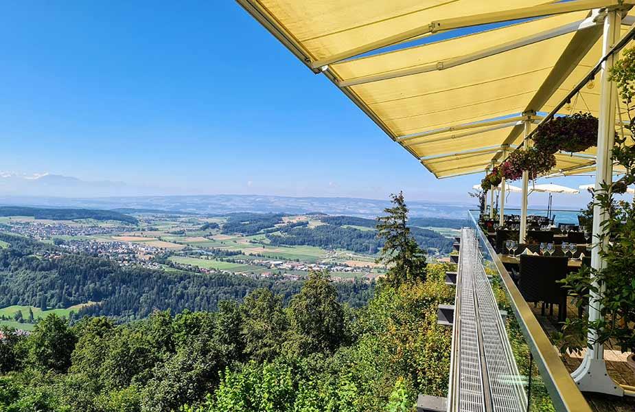 Restaurant en uitzicht vanaf de Uetliberg