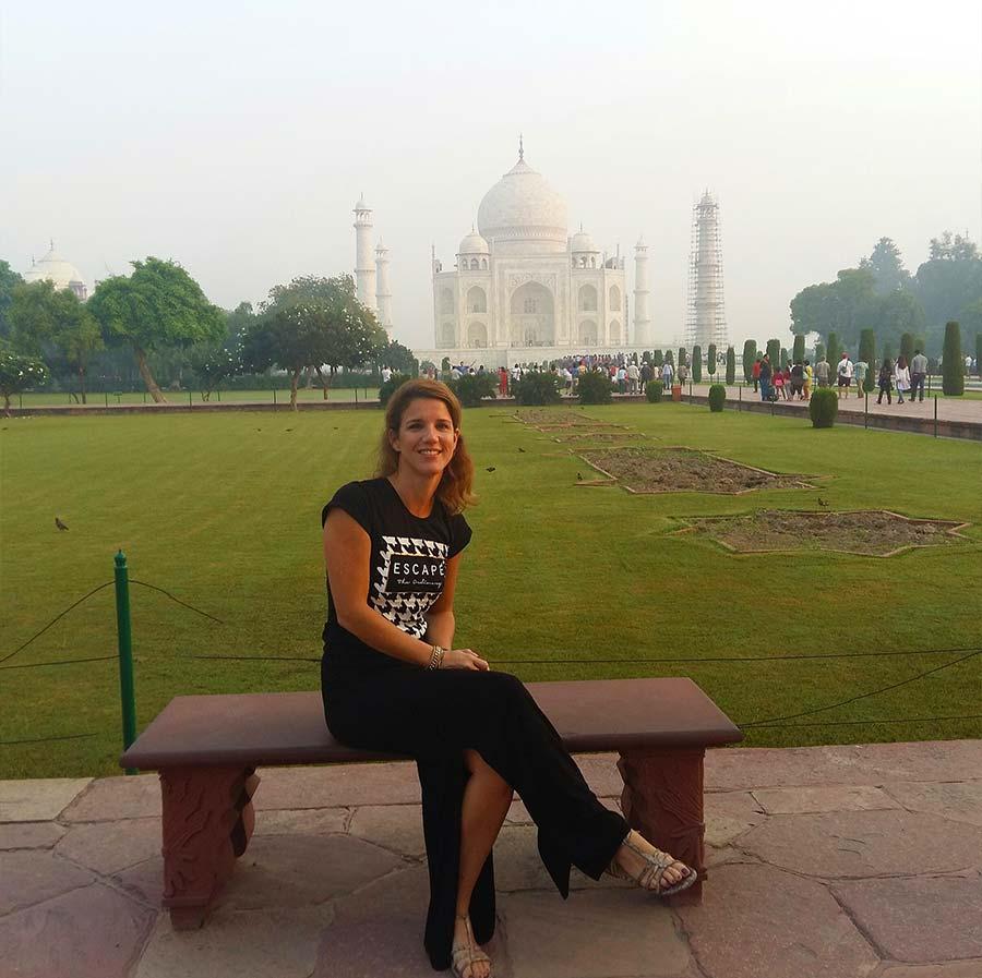 Bij de Taj Mahal in India