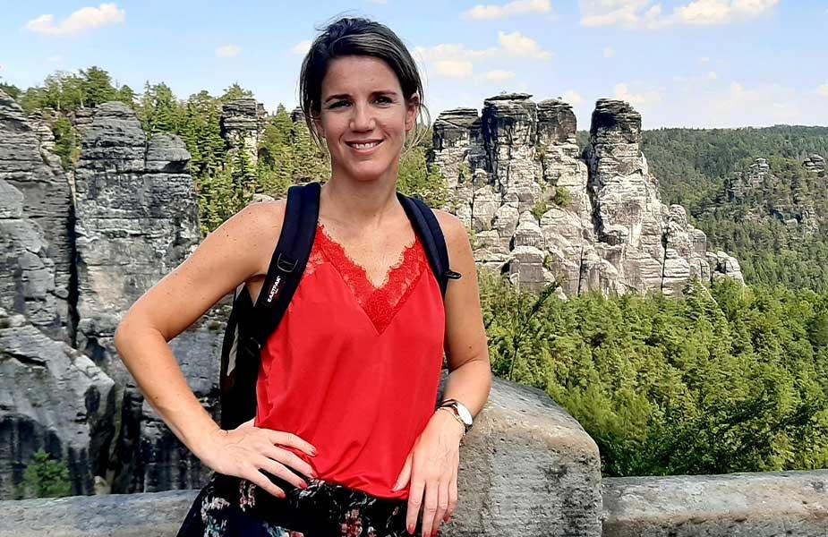 Sylvia op vakantie in Duitsland