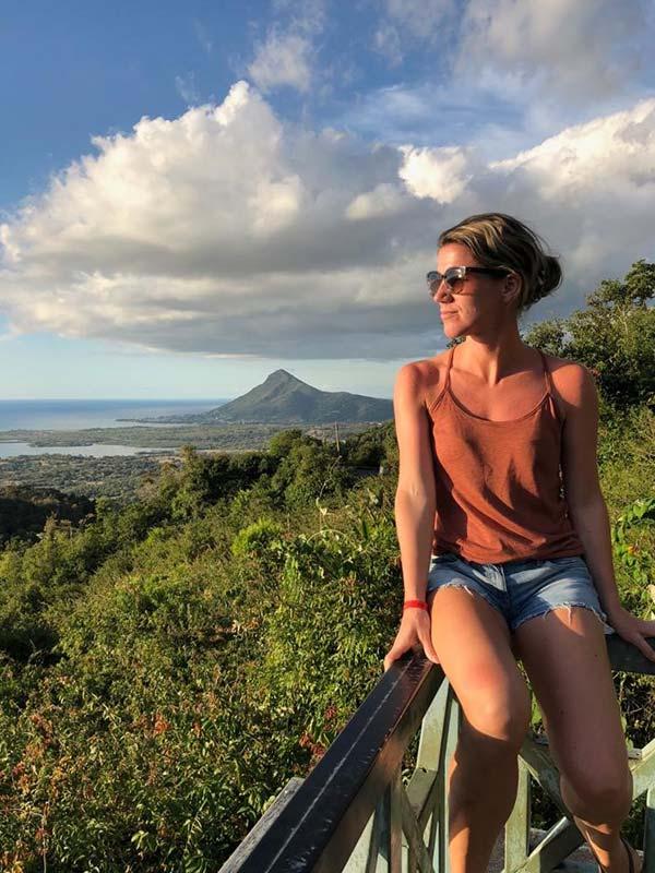 Sylvia op Mauritius