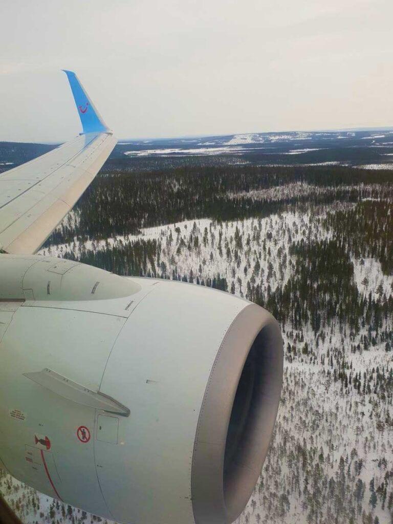 Landen met vliegtuig in Lapland