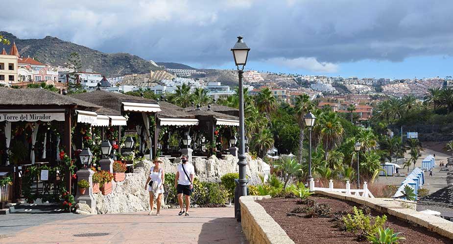 De wandelboulevard van Costa Adeje naar Los Cristianos
