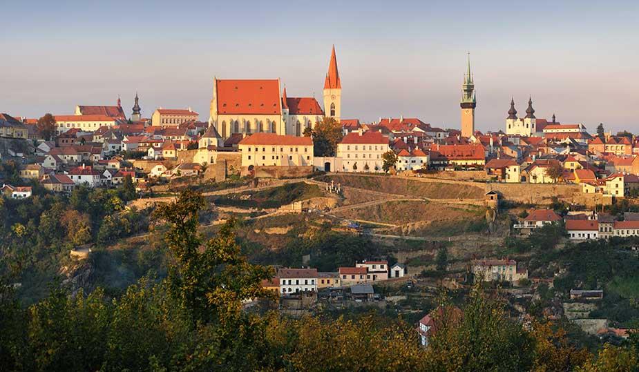 Znojmo bezoeken tijdens vakantie in Moravië Tsjechië